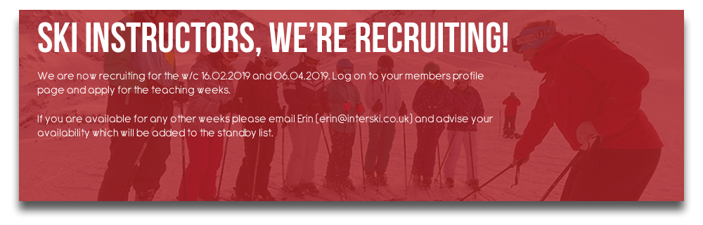 Ski Instructors, we're recruiting!
