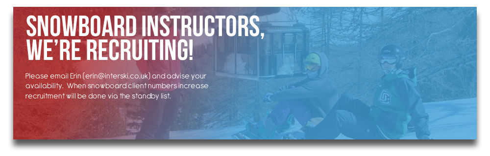 Snowboard Instructors, we're recruiting!